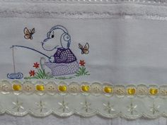 Toalha lavabo infantil- Tema personagens