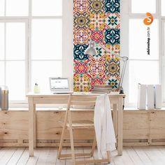 Adesivos Decorativos Azulejo Barcelona - AdsiveShop Adesivos Decorativos de Parede