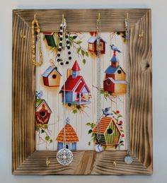 Burned Wooden Frame Jewelry Holder Jewelry by DorisAnnCreations