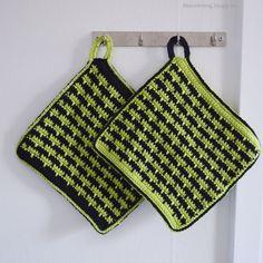 LiteVirkning - Britts grytlappar #2 Virkad grytlappar. Crochet