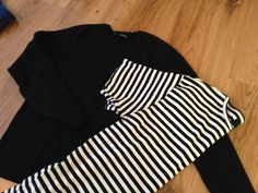 A sweater and a T-shirt becomes a girls dress.