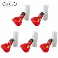 5pcs Automatic Plastic Chicken Water Feeder Cups Poultry Water Drinking Dispenser For Bird Quail Pigeon Chicken Farm Supplies 20 In 2020 Chicken Water Feeder Drinking Water Quail