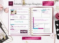 Weekly Calendar | InDesign Template by InDesign Templates on @creativemarket