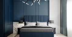 Blue bedrooms - Create a quiet space with blue tones in your home Living Room Decor, Living Spaces, Bedroom Decor, Blue Tones, Other Rooms, Architecture Design, Interior Design, Facades, Furniture