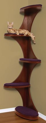 This is a cool, modern looking cat climber.