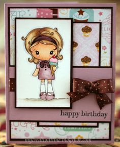 by mackpup - Cards and Paper Crafts at Splitcoaststampers Birthday Cards For Women, Happy Birthday Cards, Design Cards, Paper Crafts, Diy Crafts, Beautiful Handmade Cards, Card Making Inspiration, Paper Pumpkin, Copics