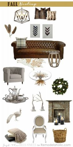 Fall Nesting with Just The Bees Knees for Remodelaholic.com  love love love everything in this picture..