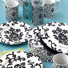 Great Black and White Dishes