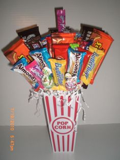 candy bouquet for Rusty's birthday