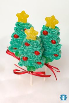 12 Christmas Tree Candy Kabobs by Sweets Indeed