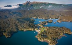 Tutka Bay Lodge from the air - ways to splurge in Alaska
