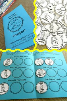 Summer Reading Passport…super fun way to practice reading over the summer! Reading Logs, Reading Club, Reading Workshop, Kids Reading, Teaching Reading, Guided Reading, Reading Themes, Reading Activities, Library Lessons
