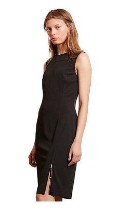 $69.99 - Ralph Lauren Women\u0027s Paneled Sheath Dress with Zipper Front, Black,  Size 6