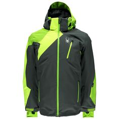 Spyder Vyper Jacket Herren Skijacke grau neon gelb grün #spyder #skibekleidung #outlet #sporthausmarquardt