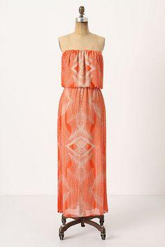 Pleated Optic Maxi Dress #anthropologie