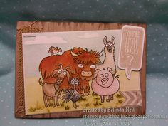 Stampin' Up! From the Herd, Just Sayin' & Watercolour.