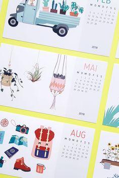 The new baby – my desk calendar 2018! Endlich ist er da, druckfrisch eben in meinen Dawanda Shop eingestellt – mein neuer Tischkalender 2018. Toller Kalender mit Illustrationen von Kakteen, Sukkulenten und vielen mehr.