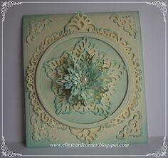 Elly's Card- Corner: Floral ovals, maar dan rond :-)