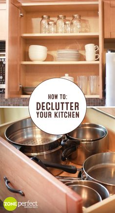 Ways to Declutter Your Kitchen in a Day! The new year is the perfect occasion time to refresh your home. Check out this guide for How To Declutter Your Kitchen for inspiration on qu Kitchen Redo, New Kitchen, Kitchen Tips, Kitchen Ideas, Kitchen Organization, Kitchen Storage, Organization Ideas, Diy Storage, Storage Ideas