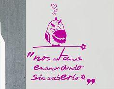 """#Vinilos #Textos #Románticos """"Nos estamos enamorando sin saberlo"""""""