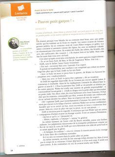 nouvelle de Dino Buzzati intitulé : Pauvre petit garçon! (dans Le K) . Ce texte est disponible dans votre manuel de français (fleur d'encre) pp24-26.