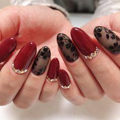 秋/冬/成人式/バレンタイン/ハンド - pure nailsのネイルデザイ. Herbst / Winter / Erwachsene / Valentine / Hand-Pure Nägel Nageldesign Nail Book im Jahr 2019 Minx Nails, Hot Nails, Bright Nail Designs, Nail Art Designs, Nail Art Printer, Lace Nails, Japanese Nail Art, Flower Nail Art, Pastel Nails