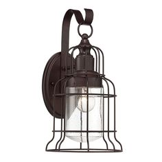 Scout Bronze One-Light 8.5-Inch Wide Outdoor Wall Lantern