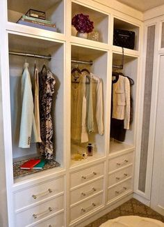 Love drawer space in a closet