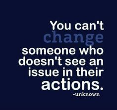Can't change people