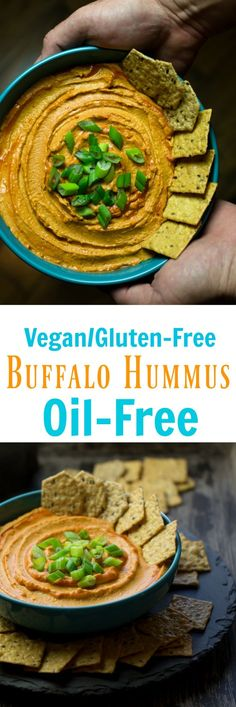 This Vegan Spicy Buffalo White Bean Hummus is sure to wow at your next gathering. It has wonderful deep flavors from roasted bell peppers and garlic and a spicy kick from the hot sauce. It is oil-free and delicious served with crackers, chips or veggies! via @thevegan8
