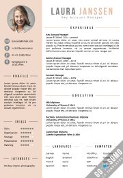 CV Template in Word. Fully editable. 2 color versions in 1, including a 2nd page template + matching cover letter template: https://gosumo-cvtemplate.com/product/cv-template-vienna/