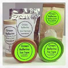 Green Ballerina Products!  Show your feet some love!