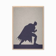 Batman Poster : Modern DC Comics Superhero Illustration Retro Art Wall Decor Print A4 11 x 8