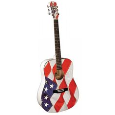 USA FLAG ACOUSTIC GUITAR  Check out the all new USA FLAG ACOUSTIC GUITAR By SHS International this Independence day.