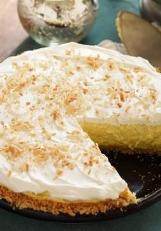 Coconut-Cream Cheese Pie This luscious Coconut-Cream Cheese Pie takes only 15 minutes to make