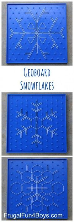 Geoboard Snowflakes STEM Activity for Kids Geoboard Snowflakes – Winter STEM Activity for Kids. These are so beautiful, and work well for a wide range of ages. The post has links to the boards and bands we used. Winter Stem Activities For Kids, Steam Activities, Science Activities, Preschool Winter, Math Classroom, Kindergarten Math, Teaching Math, Teaching Resources, Teaching Measurement
