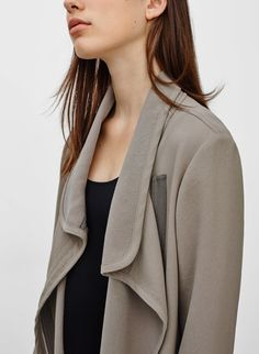 love the way this jacket drapes
