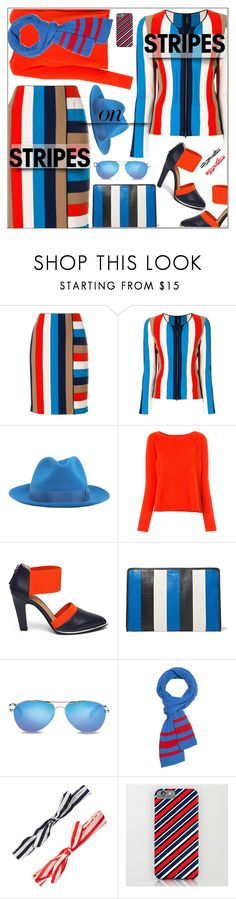 """""""Pattern Challenge"""" by shoaleh-nia ❤ liked on Polyvore featuring MARC CAIN, Borsalino, Jady Rose, Balenciaga, TOMS and Slater Zorn"""