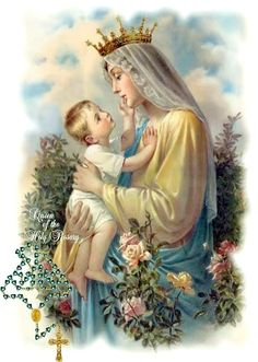 Dear Holy Mary, Mother of God, Queen of the Holy Rosary, pray for us sinners, now and at the hour of death. Amen.  A
