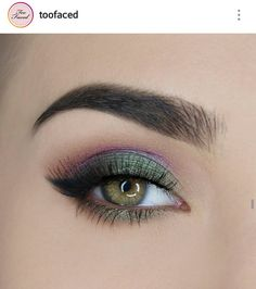 Improve makeup with these makeup ideas for prom Tip# 9534 Colorful Eye Makeup, Makeup For Green Eyes, Love Makeup, Beauty Makeup, Hair Makeup, Eyeliner, Eye Makeup Cut Crease, Eyeshadow, Photo Oeil
