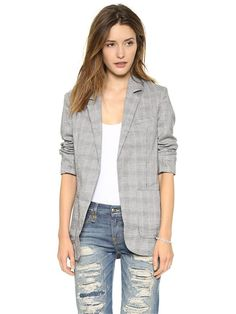 My Wonderful World Lapel Lattice Long Sleeve Jacket X-Large Grey
