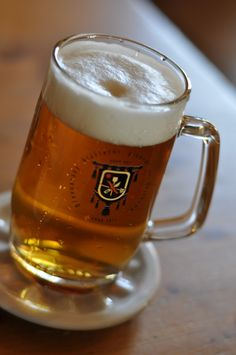 Skip the medieval-themed bars. Instead, head to the world's oldest brewery. Beer Glassware, Pint Of Beer, Prague, Brewery, Medieval, Blood, Beverages, Bucket, Places