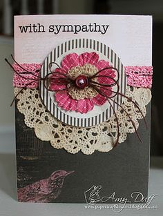 @Amy Lyons Duff created this gorgeous sympathy card using SRM Stickers' Wishing You Well Sticker Sentiment.