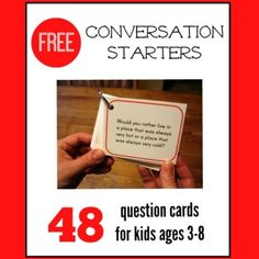 "Thank You to Smart Apps for Special Needs for recommending these great, free ""Would You Rather"" conversation starter cards on the Measured Mom blog. These cards are perfect for carryover pragmatic language work , reasoning, and conversation practice and are ideal for long car rides and vacations! Download these cards HERE from the Measured Mom Blog Please Support our Contributors and Visit Smart Apps for Special Needs"