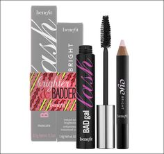 "benefit's Brighter & Badder ($29.00) (Limited Edition)    This set features Eye bright, a ""nap in a stick"" that revs ups eyes for a wide-awake look; and BADgal lash mascara, which pumps up the volume for the lushest-ever fringe"