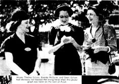 Gwen Gillam (left) pictured in the Courier Mail, 1937