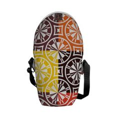 Colorful #geometric #pattern tiles custom #courierbags  See more #gifts here http://www.zazzle.com/zazzleproducts1?rf=238228936251904937%3DzBookmarklet