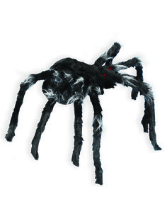 Weave a web of Halloween horror with this animated Jumping Spider decoration. The furry black spider has illuminated eyes and emits scary sounds as it jumps about the room - spooky and fun! Halloween Fright Night, Halloween Spider, Creepy Halloween, Halloween Horror, Spirit Halloween, Vintage Halloween, Halloween Stuff, Halloween Ideas, Homemade Halloween