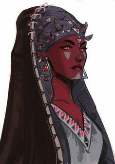 Female Tiefling Oracle - Pathfinder PFRPG DND D&D d20 fantasy