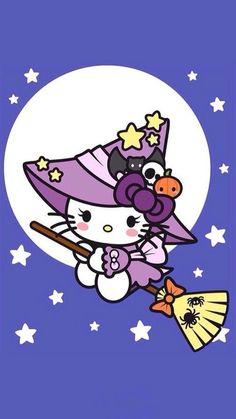Hello kitty, halloween more hello kitty characters, hello kitty cartoon Sanrio Hello Kitty, Hello Kitty Art, Hello Kitty Tattoos, Kitty Kitty, Hello Kitty Halloween, Kawaii Halloween, Sanrio Wallpaper, Hello Kitty Wallpaper, Images Hello Kitty